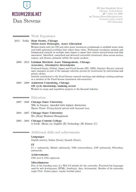 latest resume format  hot resume format trends