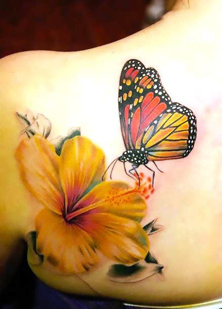 lily  monarch butterfly tattoo idea