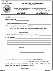 Articles of organization template ultramodern print louisiana llc limited liability company form for Llc articles of organization template free