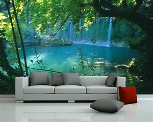 bilderdepot24 fototapete photo wallpaper mural quotwaterfall With balkon teppich mit sticker tapete