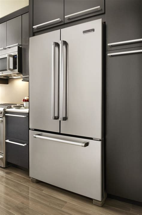 refrigerator cabinet depth kitchenaid kfcp22exmp pro line series 21 8 cu ft