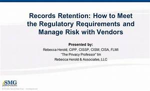 Records Retention: How to Meet the Regulatory Requirements ...