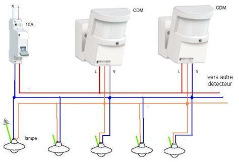 schema electrique eclairage exterieur brancher 233 clairage exterieur avec detecteur de mouvement