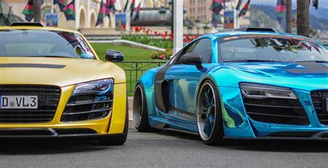 audi  monaco supercars exclusive unique blue chrome