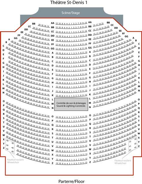 plan de salle theatre st denis th 233 226 tre st denis 1