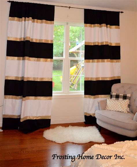 Gold And White Curtains by Best 25 Black White Curtains Ideas On White