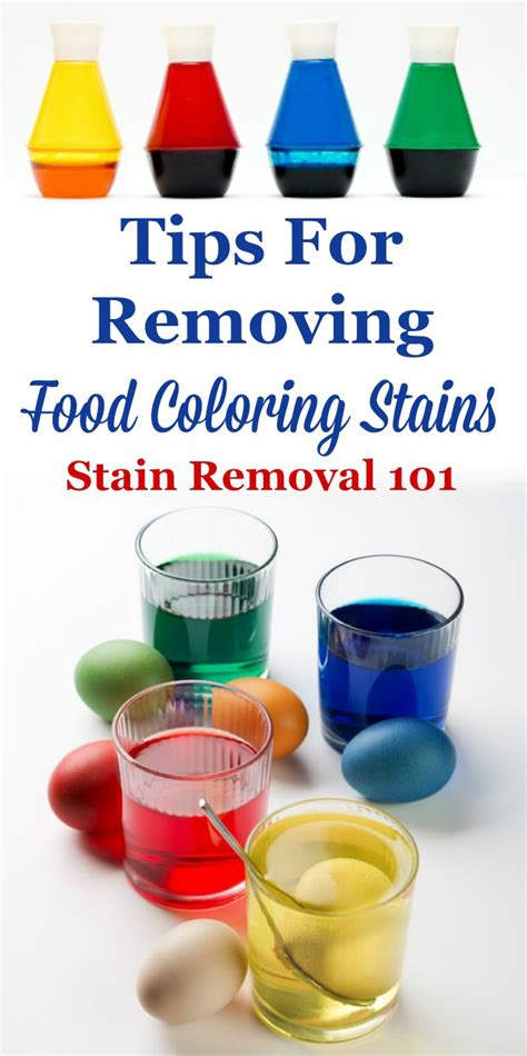 remove  food coloring stain