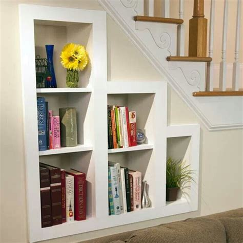 Stairs Shelf Ideas For Book Storage by 1000 Ideas About Shelves Stairs On