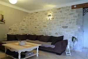 decoration mur interieur meilleures images d39inspiration With deco salon mur pierre