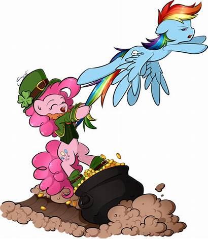 Pot Gold Rainbow Leprechaun Pony Clipart End
