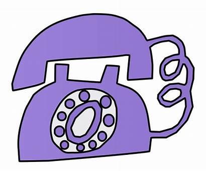 Purple Clipart Telephone Phone Transparent Webstockreview
