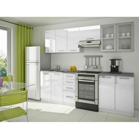 marché de la cuisine équipée cuisine équipée moderne blanche 39 nérou 39 achat vente