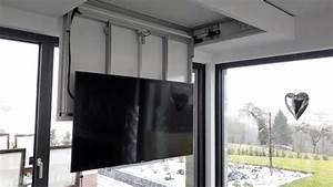 Tv Deckenhalterung Schwenkbar : tv deckenhalter elektrisch schwenkbar klappbar gruber systems ~ Orissabook.com Haus und Dekorationen
