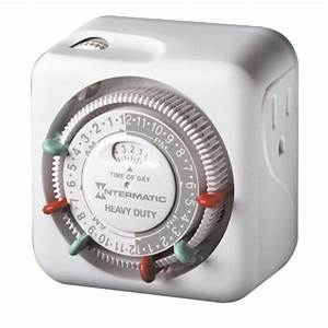Intermatic tn c volt heavy duty grounded timer