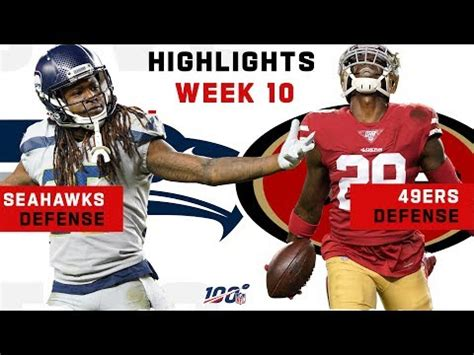 ers seahawks defensive battle nfl  highlights