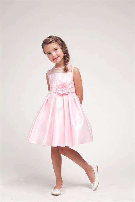 pink puffy flower girl dresses    pal