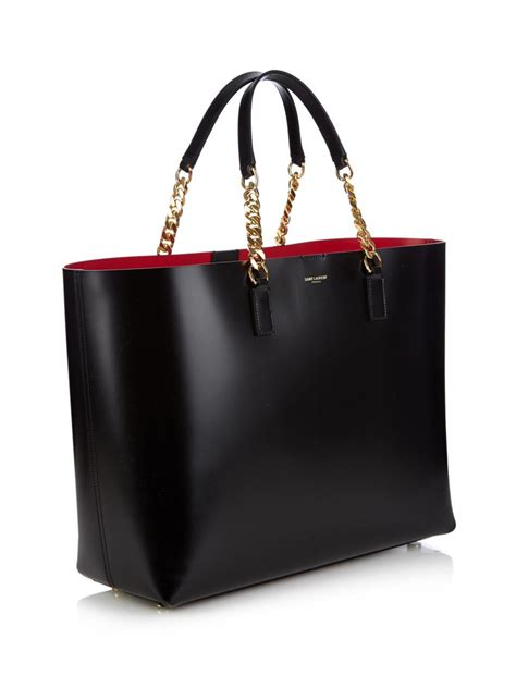 lyst saint laurent monogram double faced leather tote