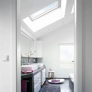 Salle de bains sous les combles un espace de bien etre for Velux pour salle de bain