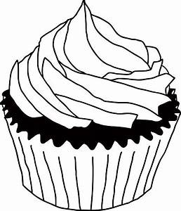 Cupcakes Clipart Black And White | Clipart Panda - Free ...