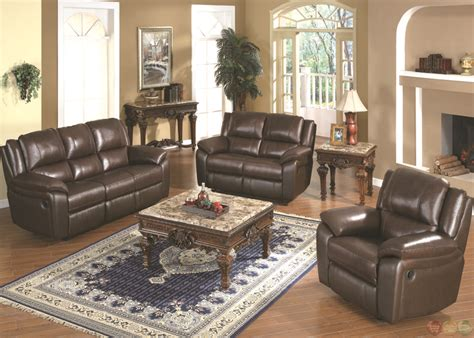 Brown Leather Sofa Set by Baxtor Brown Reclining Sofa Set Leather Match
