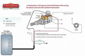 Throbak Humbucker Guitar Pickup Push Pull Phase Switch