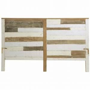 Tete De Lit 160 Cm : t te de lit en bois recycl l 160 cm arcachon maisons du monde ~ Teatrodelosmanantiales.com Idées de Décoration