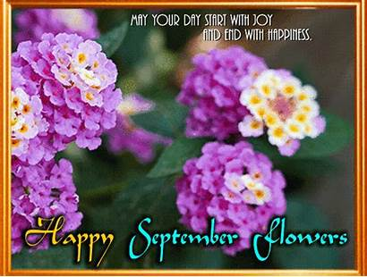 Month September Happy Flowers Card Flower Special