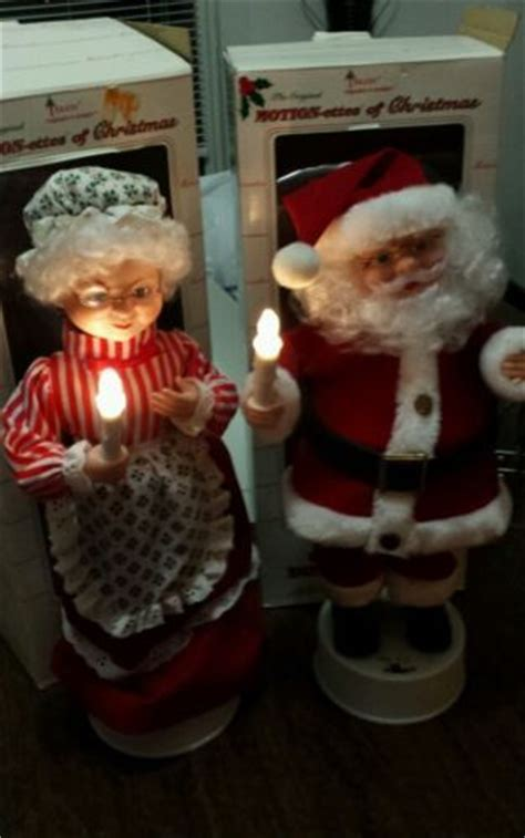 motion ettes of christmas figures telco vintage original motion ettes of mr and mrs clause figures ebay animated