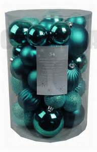 34 luxury shatterproof xmas christmas tree baubles decorations teal blue topaz ebay