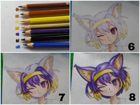 Coloring Hair Anime by Tutorial 1 Coloring Tutorial Colored Pencils Anime