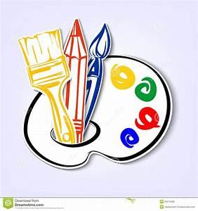 Art Icons Set. A Vector Illustration Stock Vector ...