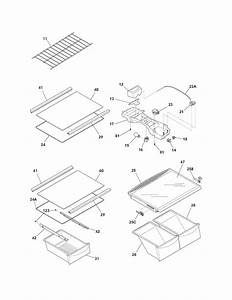Shelves Diagram  U0026 Parts List For Model Frt18l4jw8