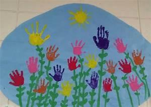 Flower, Handprint, Mural, April, 2017