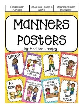 manners posters  learning   langley teachers