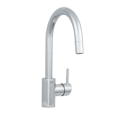 grohe concetto single handle pull out sprayer kitchen faucet in starlight chrome 32665001 the