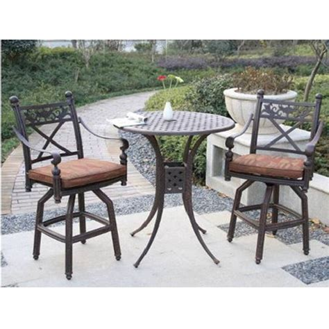 patio bar table allen roth safford swivel bar chairs
