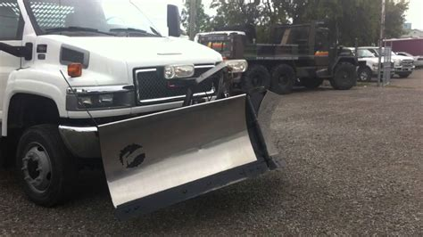2007 GMC C5500 4x4 Dump With Plow and Salter For Sale