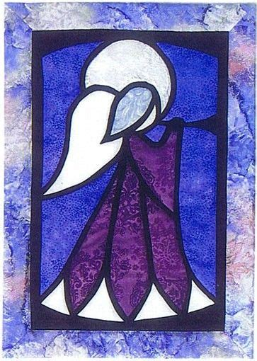 light  angels stained glass quilt