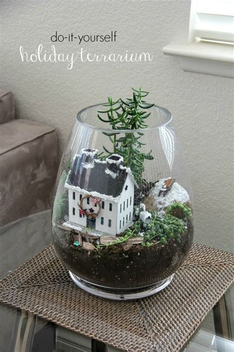 christmas terrarium handmadeholiday sponsored hometalk funky junk present