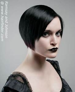 Striking And Glamorous Short Gothic Hairstyle