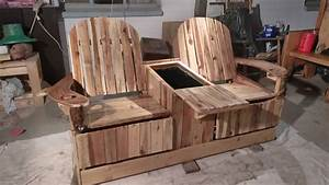 party like pros 2 person pallet recliner has built in ice With best brand of paint for kitchen cabinets with how to make candle holders out of wood