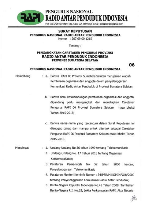 contoh sk organisasi kemasyarakatan ilmusosialid