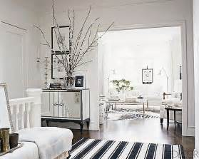 white home interior design ask casa decor black and white striped rug popsugar home