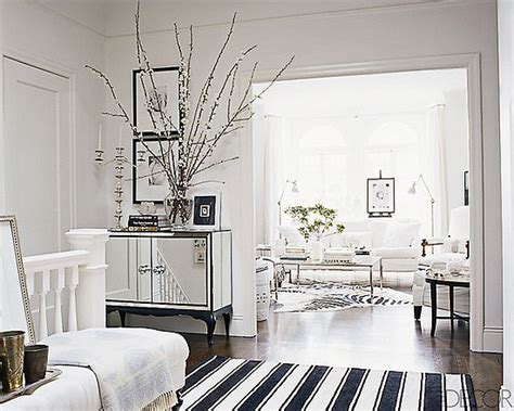 Home Decor Rugs :  Elle Decor Black And White Striped Rug