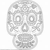 Coloring Skull Sugar Pages Getcoloringpages Pdf Uncategorized sketch template