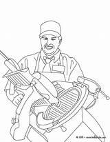 Coloring Hellokids Ham Butcher Imprimer Colorir Coloriage Ausmalen Zum Schlachter Trator Metier Schneidet Schinken Coloriages Nouveau Slicing Job Uložene Njoy sketch template