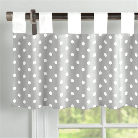 Gray Valance by Gray And White Dots And Stripes Window Valance Tab Top