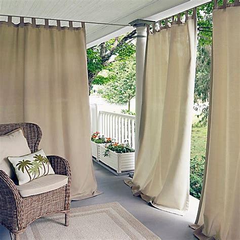 indoor outdoor curtains elrene matine indoor outdoor tab top window curtain panel