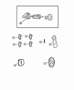 Dodge Caliber Cap  Door Lock Cylinder  Liftgate Lock