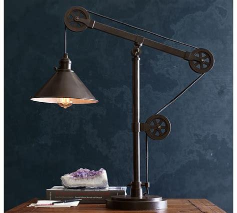 warren pulley table lamp pottery barn
